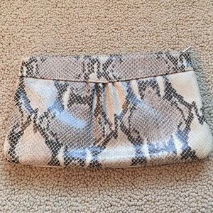 NWOT Banana Republic Snake Print Clutch